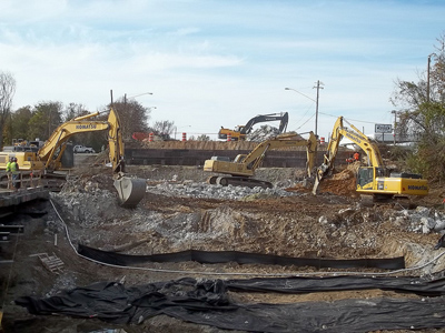 Construction sites loosen soil that could run off into a body of water. Photo Credit: NCDOTcommunications via Flickr