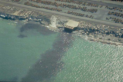 Here is an example of point source pollution. Photo Credit: NOAA Ocean Service