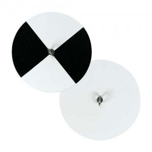 While most secchi discs alternate black and white quadrants, oceanographic discs tend to be all white.