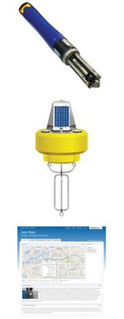YSI EXO2 multi-parameter sonde, NexSens CB-450 data buoy, WQData LIVE web datacenter