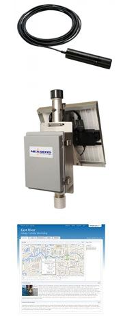 In-Situ RDO PRO-X Optical Dissolved Oxygen Sensor, NexSens MAST Data Logging System, NexSens WQData LIVE Web Datacenter