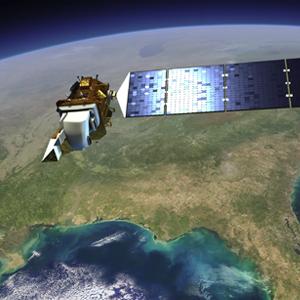 Artist concept of Landsat 8. (Credit: NASA's Goddard Space Flight Center)