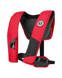 Mustang DLX 38 Deluxe Manual Inflatable PFD - Red/Black