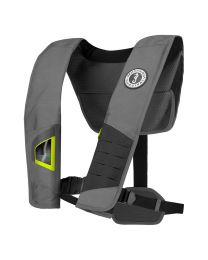 Mustang DLX 38 Deluxe Automatic Inflatable PFD - Gray/Fluorescent Yellow