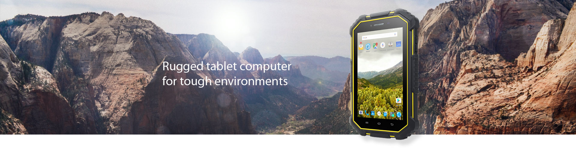 Rugged tablet computer for tough environments