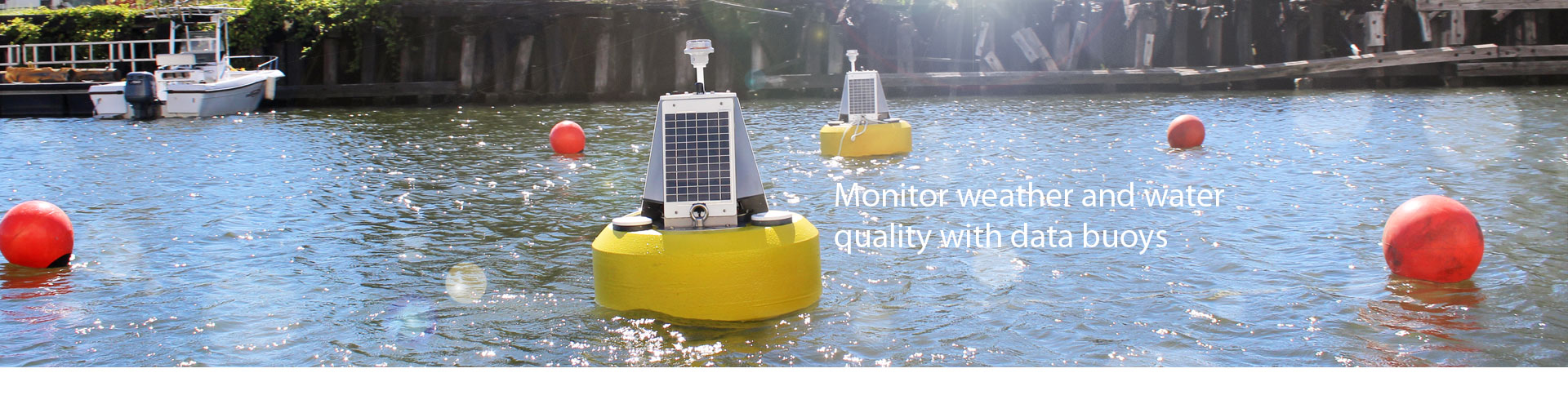Monitor weather and water quality with data buoys