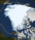 Arctic ice cover melts to new low