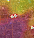 Houston Clean Air Network ozone map