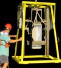 Box corer sediment sampler in Lake Huron aboard the R/V Lake Guardian, July 2012. Credit: NOAA.