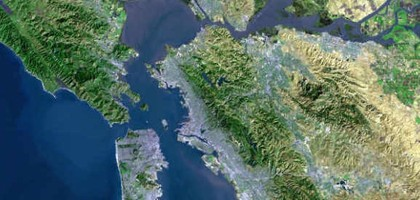 The San Francisco Bay area (Credit: USGS, via Wikimedia Commons)