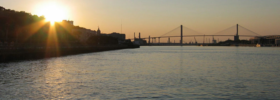 Savannah River and Eugene Talmadge Memorial Bridge