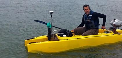 WHOI monitoring kayak