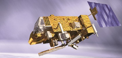 Artist's concept of the MetOp-B satellite. (Credit: ESA/Eumetsat)