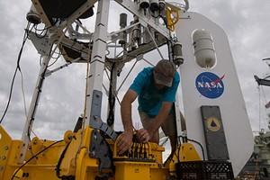 SPURS buoy (Credit: Bill Ingalls/NASA)