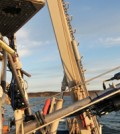 Tripod-mounted optical imaging instruments before being deployed to the seabed (Credit: USGS)