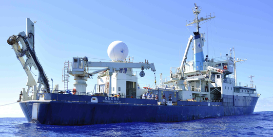 The Woods Hole Oceanographic Institute's R/V Knorr (Credit: NASA)