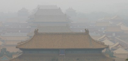 Smog over Beijing's Forbidden City (Credit: Brian Jeffery Beggerly, via Flickr)