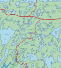 Map of the Experimental Lakes Area (Credit: Experimental Lakes Area)