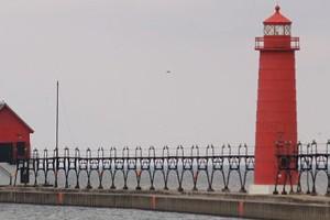 The Lake Michigan coast at Grand Haven, Mich. (Credit: takomabibelo, via Flickr)