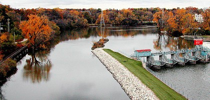 The Fox River, upstream of the Area of Concern boundary (Credit: Larry Page, via Flickr)
