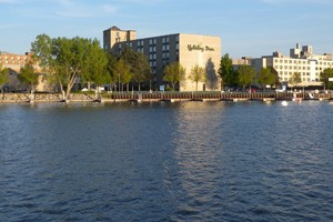 The Lower Fox River waterfront (Credit: Wisconsin DNR)