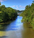 Monongahela monitoring program / The Allegheny River at Washington's Landing (Credit: Mike Rhoads, via Flickr)