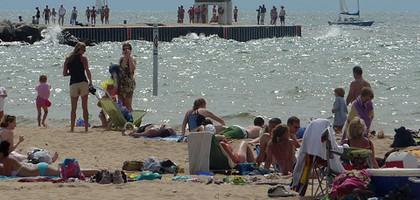 A Lake Michigan beach near Holland, Mich. (Credit: Andrew Hill, via Flickr)