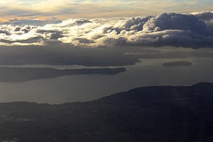 An aerial view of Puget Sound near Seattle (Credit: Liz Lawley, via Flickr)