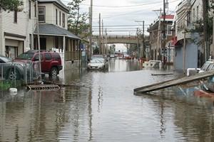 Post-Sandy flooding in Rockaway, Queens. (Credit: Dakine Kane, via Flickr)
