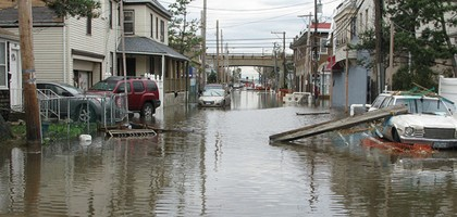 Post-Sandy flooding in Rockaway, Queens. (Credit: Dakine Kane, via Flickr)
