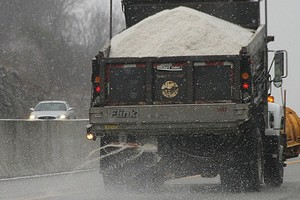 A truck spreading salt in Kentucky (Credit: J.C. Burns, via Flickr)