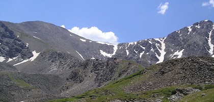 Grays and Torreys peaks of Colorado's Front Range (Credit: Daidipya, via Wikimedia Commons)