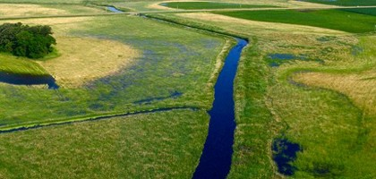 An agricultural section of the Minnesota River watershed (Credit: MPCA)