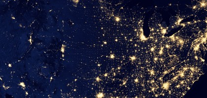 U.S. city lights captured by the Suomi NPP satellite (Credit: NASA)