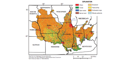 The Midwest Stream Quality Assessment study area (Credit: USGS)