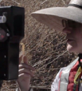 stream gauging / U.S. Geological Survey field worker Hannah Coy takes measurements in the San Pedro River (Credit: USGS)