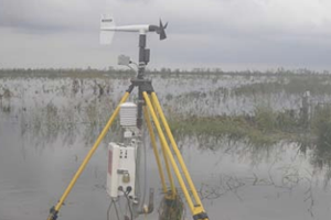 A wind probe deployed for Hurricane Ike in 2009 by the Hurricane Research Team (Credit: Tanya Brown/Hurricane Research Team)