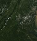 Tropical Storm Lee carried sediment into Chesapeake Bay in 2011 (Credit: NASA MODIS Rapid Response Team at NASA GSFC)