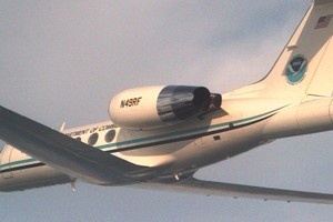 NOAA scientists use hurricane monitoring plane to monitor winter storms (Credit: NOAA)