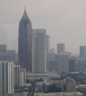 Smog in downtown Atlanta (Credit: NASA, Institute for Southern Studies)