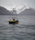 A buoy in a monitoring network for ocean acidification near Alaska (Credit: NOAA)