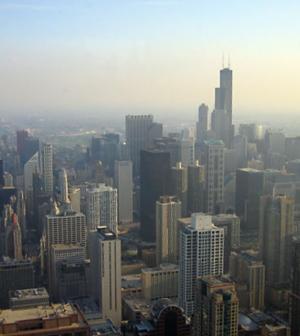 Chicago Skyline, via Wikimedia Commons