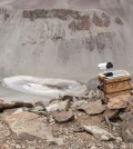A camera installed above Don Juan Pond in Antarctica's McMurdo Dry Valleys (Credit: Geological Sciences/Brown University)