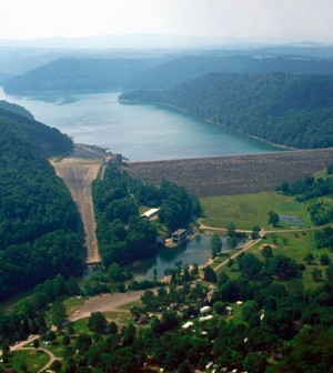 Accounting for reservoirs like the Youghiogheny Lake and Dam decreases drought threat calculations (Credit: U.S. Army Corps of Engineers)