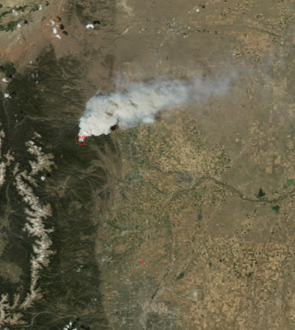 Black carbon from the High Park Fire will be studied by Colorado State University (Credit: NASA)