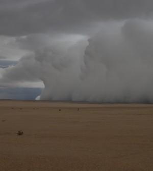 Heavy rain in Namibia (Credit: NASA)