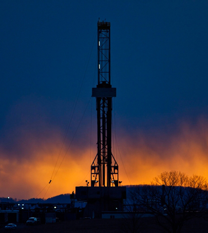 Image: Hydraulic fracturing drill rig in Pennsylvania (Credit: Environmental Protection Agency)