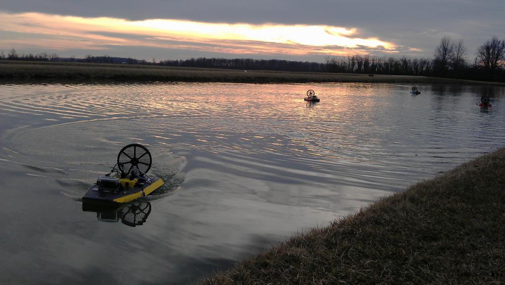 Platypus fleet of robotic monitoring air boats
