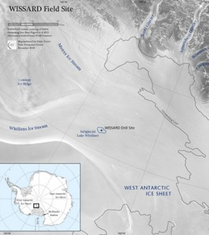 Map of the WISSARD drill site (Credit: WISSARD)
