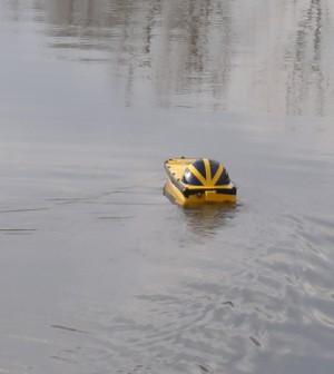 Bathy Boat (Credit: Michigan Tech Research Institute)
